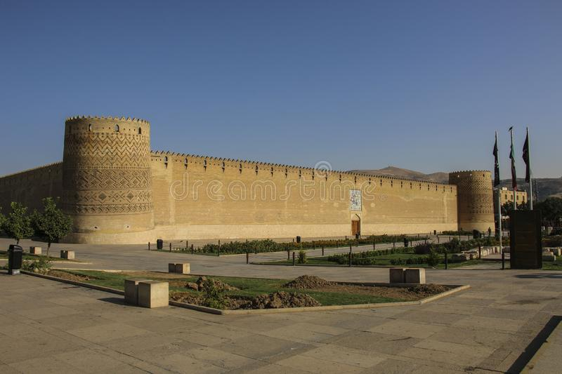 Karim Khan Citadel in Shiraz, Iran. It is known as Arg-e Karim K royalty free stock image
