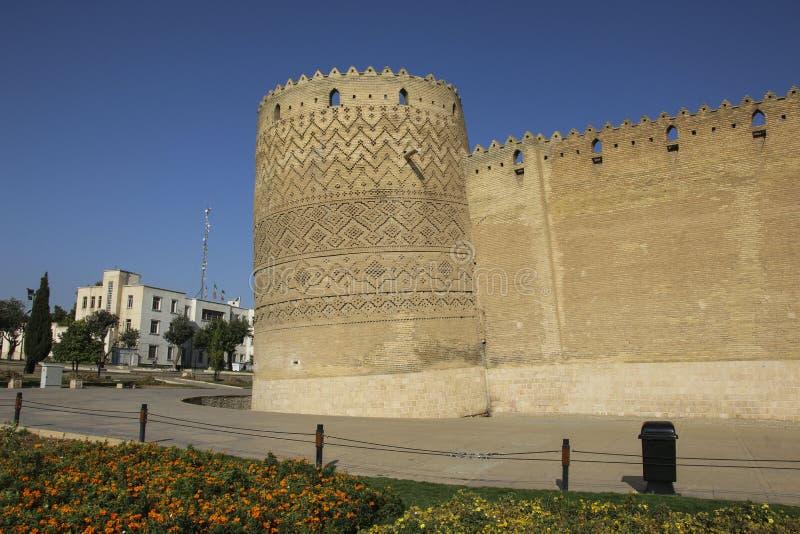 Karim Khan Citadel in Shiraz, Iran. It is known as Arg-e Karim K. Han in Persian stock photos
