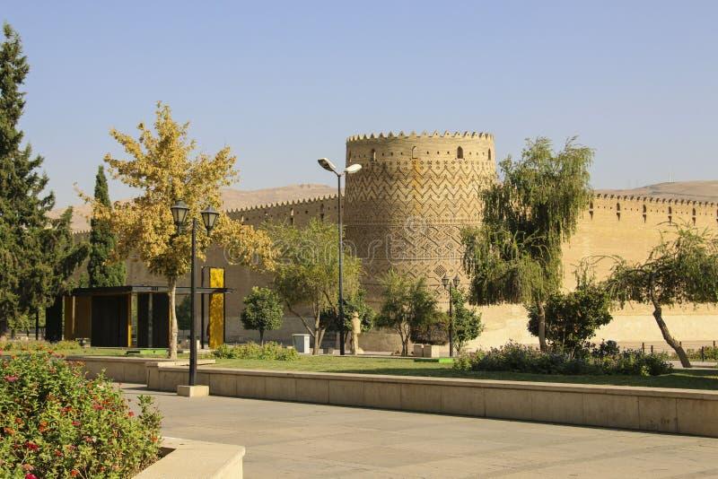 Karim Khan Citadel in Shiraz, Iran. It is known as Arg-e Karim K. Han in Persian royalty free stock photography