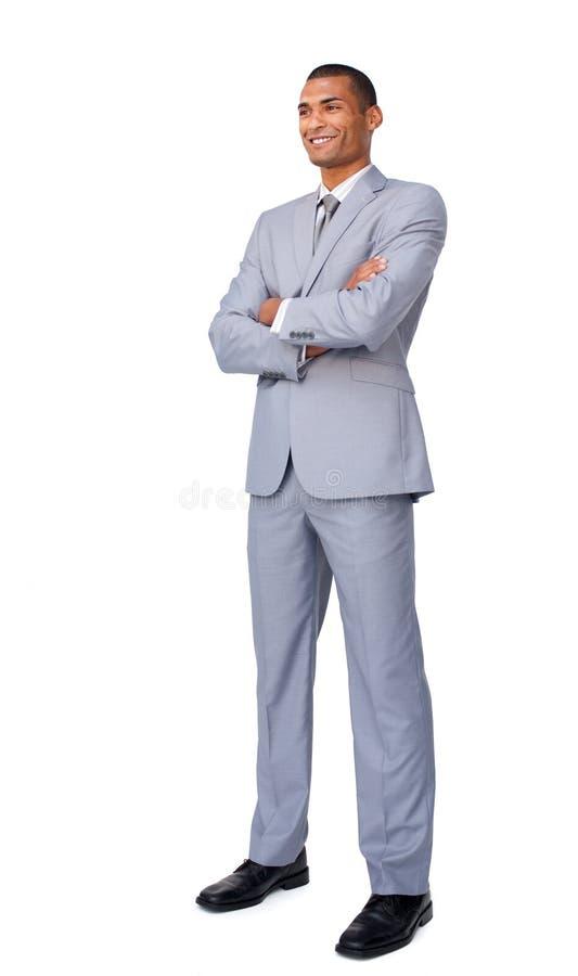 karismatisk attraktiv affärsman arkivbild