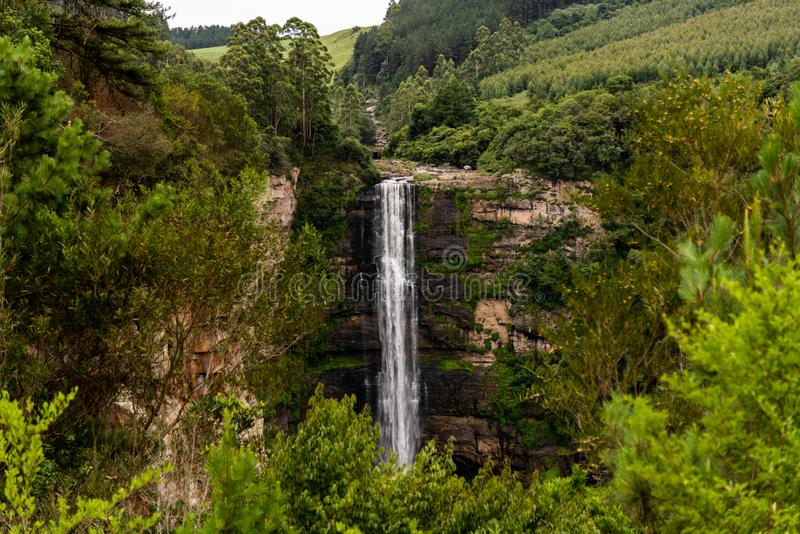 Karkloof faller i Kwa-zulu Nata, Sydafrika arkivfoto