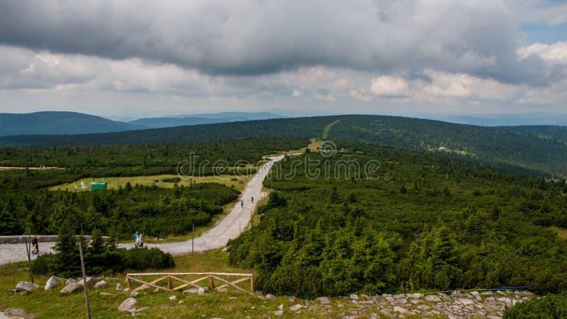 Karkonosze山景 免版税库存图片