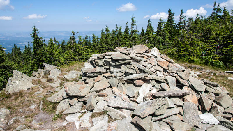 Karkonosze Mountain View stockbilder