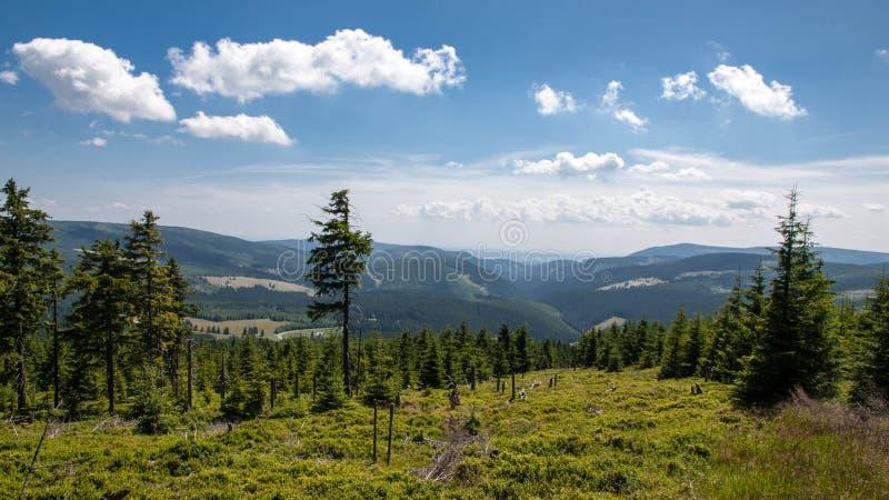 Karkonosze Mountain View lizenzfreies stockbild