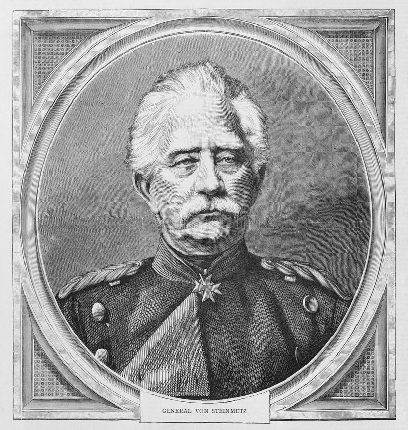 Karl Friedrich von Steinmetz royalty-vrije stock afbeelding