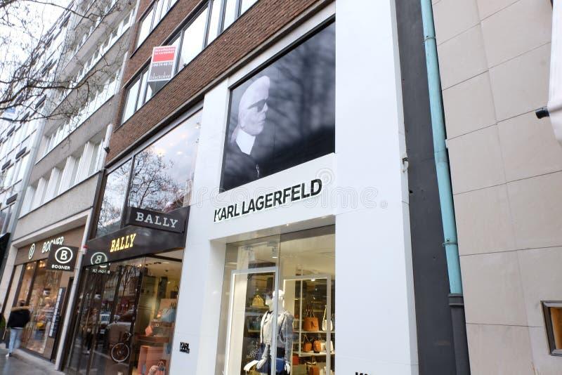 Karl Lagerfeld Shop à Francfort images libres de droits