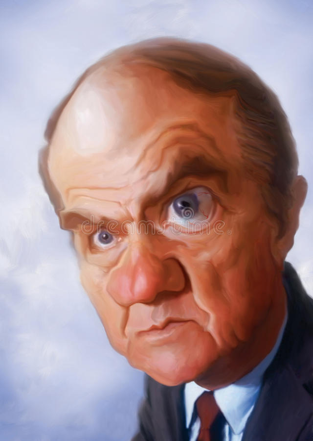 Karl Malden Caricature. Caricature sketch for editorial use for newspapers, magazines and web