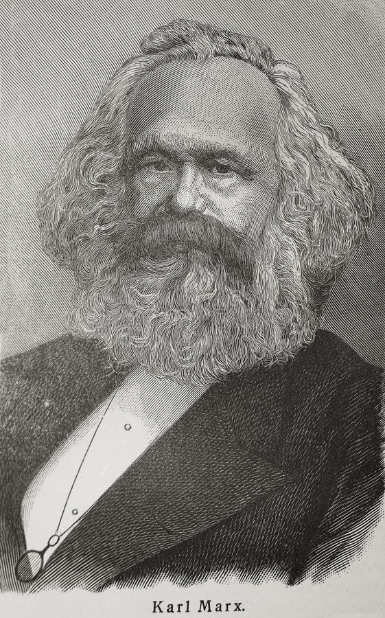 Karl Marx royalty free illustration