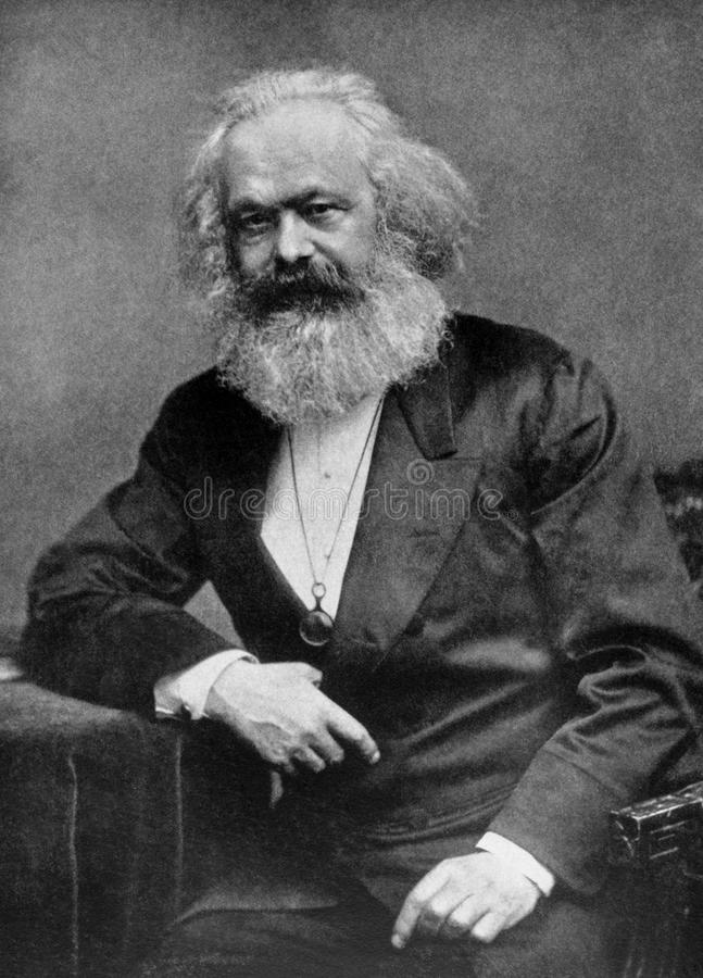 Karl Marx stock photo
