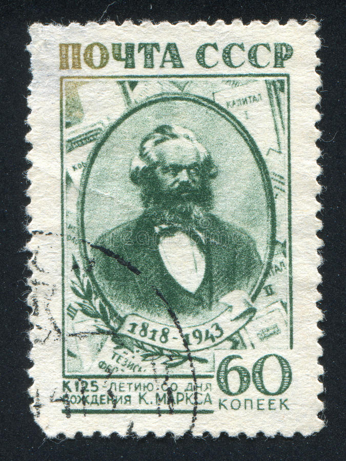 Karl Marx royaltyfria bilder