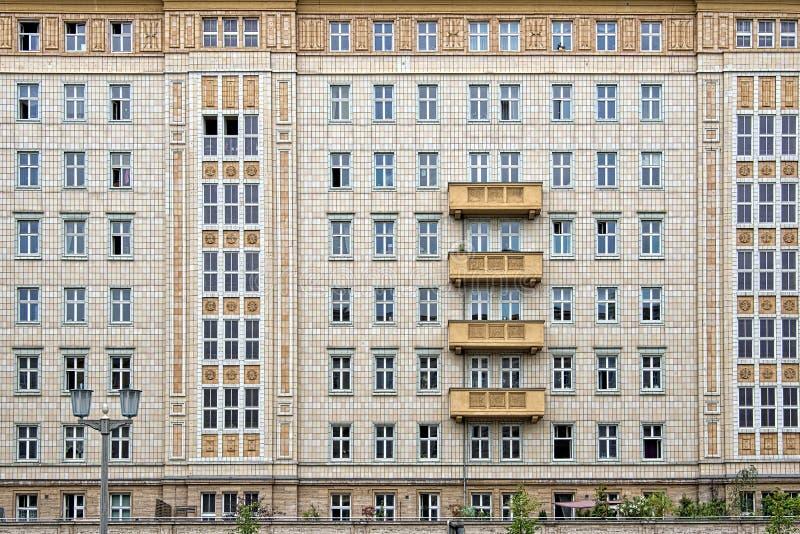 Karl Marx Allee, Berlin, Germany. Socialist architecture on Karl Marx Allee, Berlin, Germany royalty free stock photography