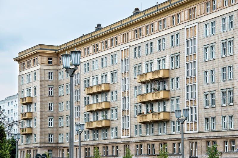 Karl Marx Allee, Berlin, Germany. Socialist architecture on Karl Marx Allee, Berlin, Germany royalty free stock images