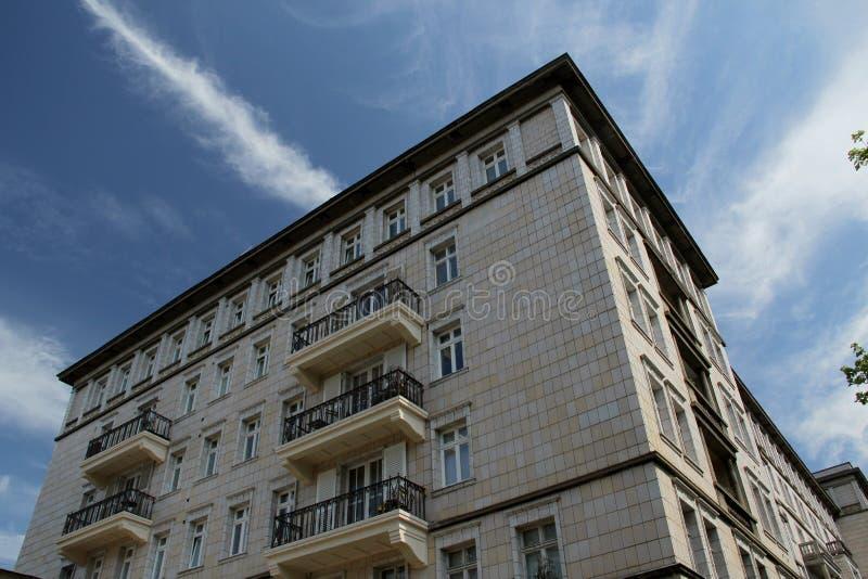Karl-Marx Allee, Berlin. Street of East Berlin. Karl-Marx Allee royalty free stock photos