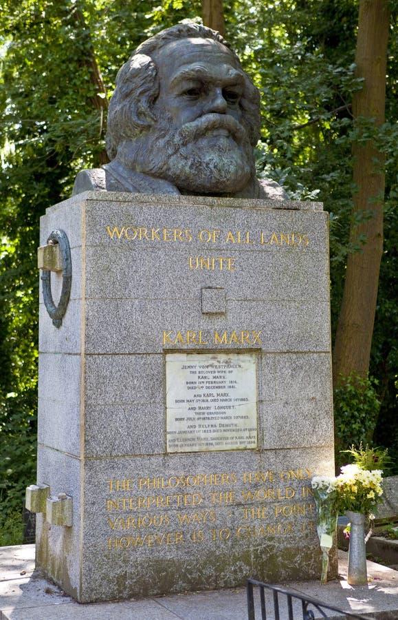 Karl Marx Bust nel cimitero di Highgate immagine stock libera da diritti