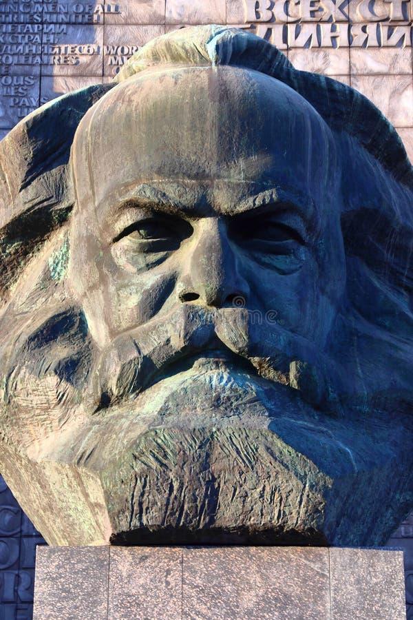 Karl Marx Chemnitz royaltyfria bilder