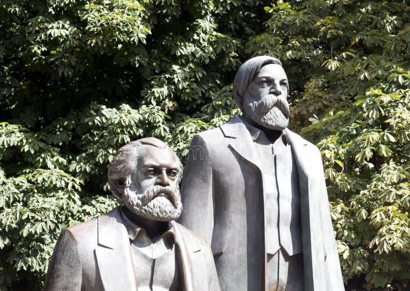 Karl Marx en Friedrich Engels royalty-vrije stock afbeelding