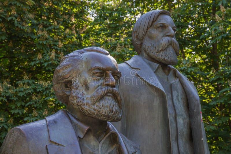 Karl Marx et Friedrich Engels image libre de droits