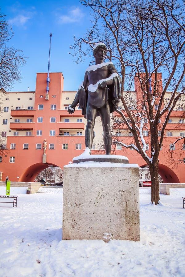 Karl Marx Hof. In Vienna Heiligenstadt royalty free stock images