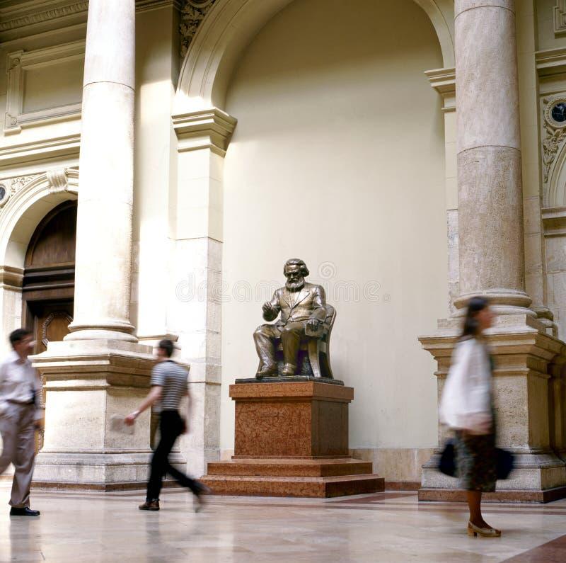 Karl Marx i Budapest royaltyfri foto