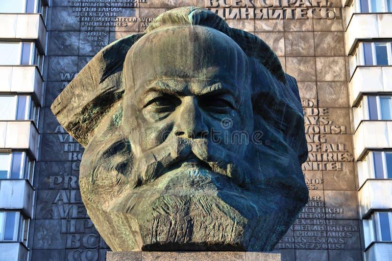 Karl Marx monument arkivbild