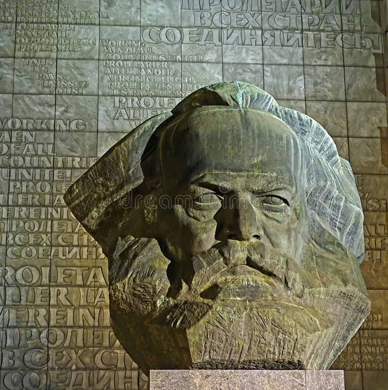 Karl Marx Monument a Chemnitz (Germania) immagine stock libera da diritti