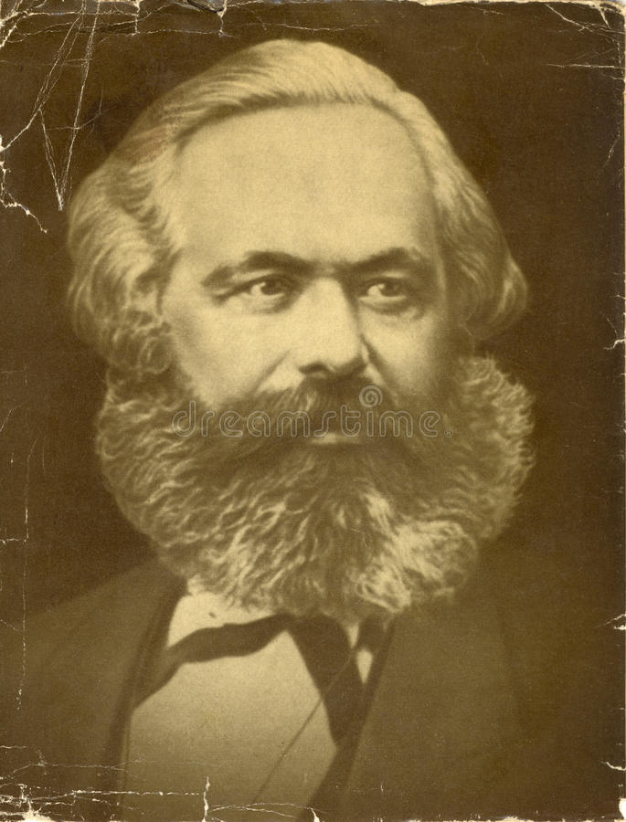 Karl Marx old photo royalty free stock photography