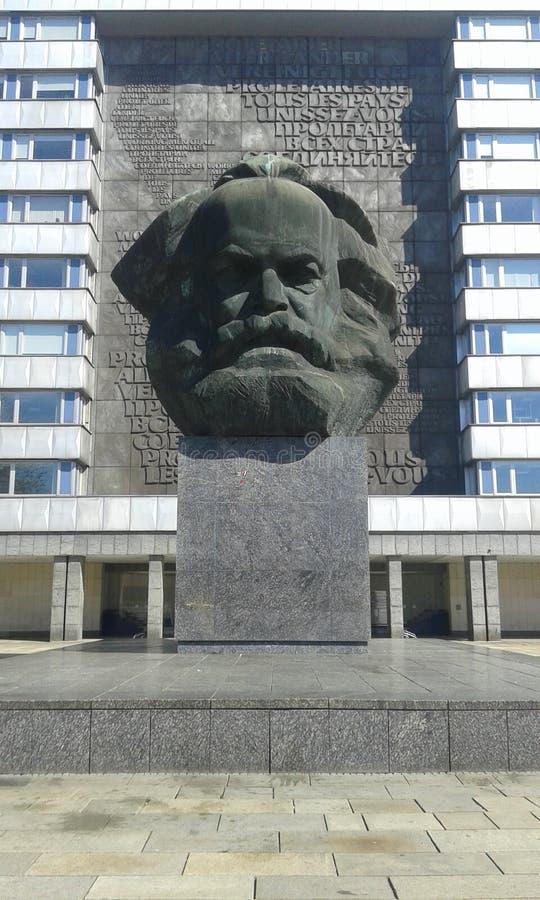 Karl Marx & x27; testa di s fotografie stock libere da diritti