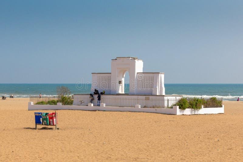 Karl Schmidt pomnik przy Elliot ` s plażą, Chennai, tamil nadu zdjęcia royalty free