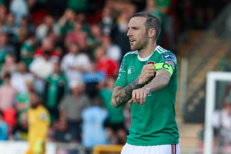Karl Sheppard at the Cork City FC vs FC Progres Niederkorn Europa League Match royalty free stock photos