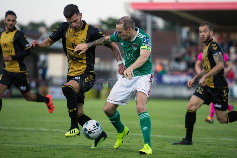 Karl Sheppard på Cork City FC vs Europa Leaguematch för FC Progres Niederkorn royaltyfri foto