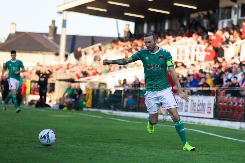Karl Sheppard på Cork City FC vs Europa Leaguematch för FC Progres Niederkorn arkivbilder