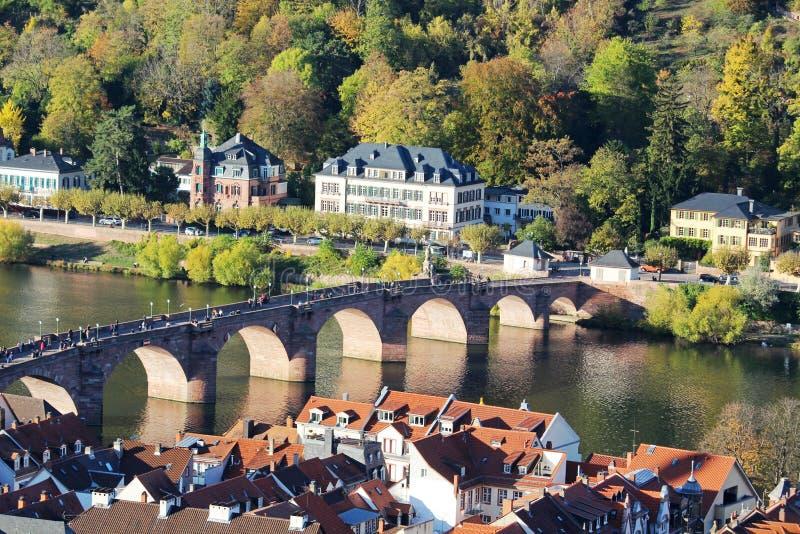 Karl Theodor Bridge, Heidelberg, Alemania fotografía de archivo libre de regalías