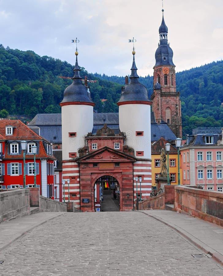 Karl Theodor Bridge, Heidelberg Alemania fotografía de archivo libre de regalías