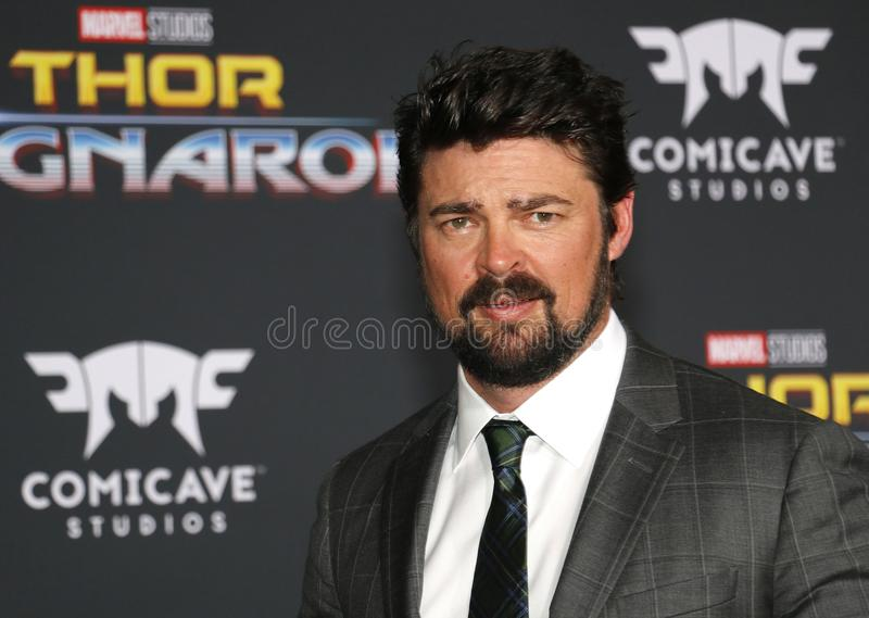 Karl Urban. At the World premiere of `Thor: Ragnarok` held at the El Capitan Theatre in Hollywood, USA on October 10, 2017 stock photography