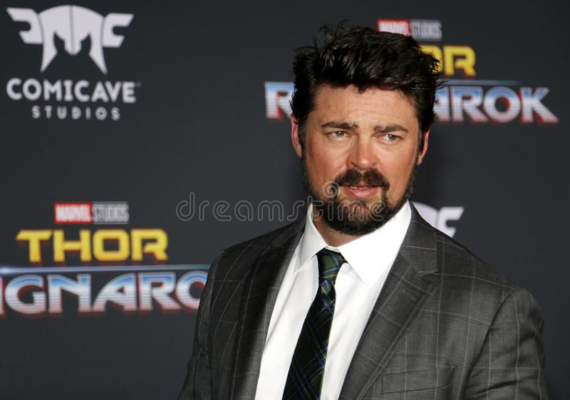 Karl Urban. At the World premiere of `Thor: Ragnarok` held at the El Capitan Theatre in Hollywood, USA on October 10, 2017 stock images