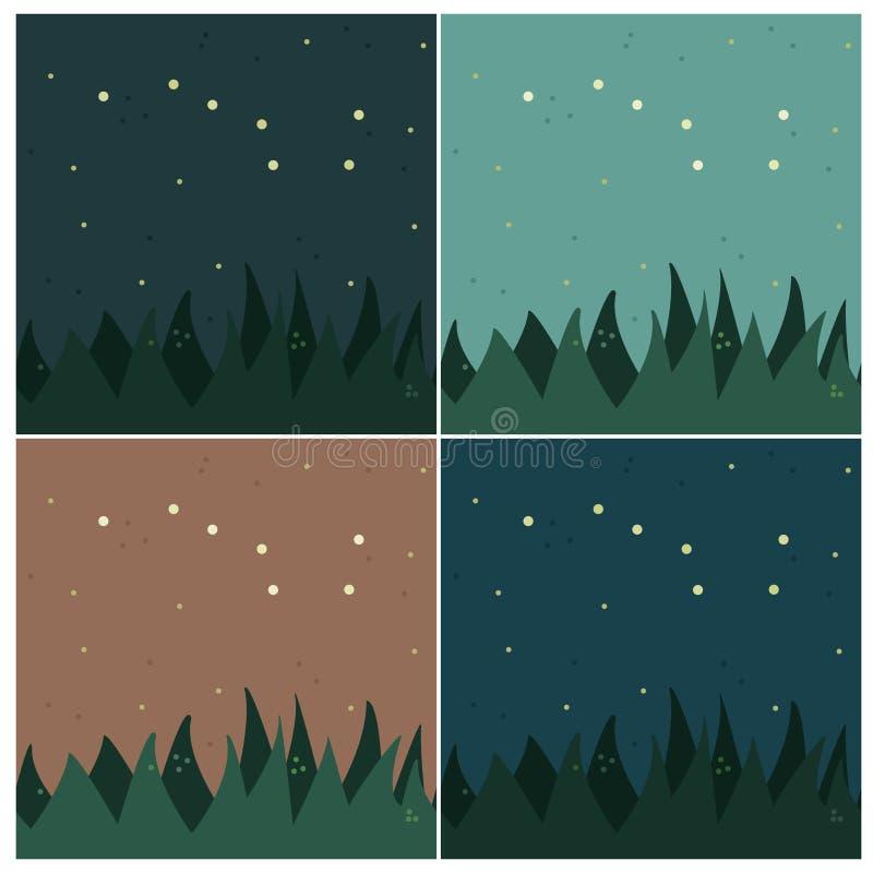 Karlavagnenkonstellation vektor illustrationer