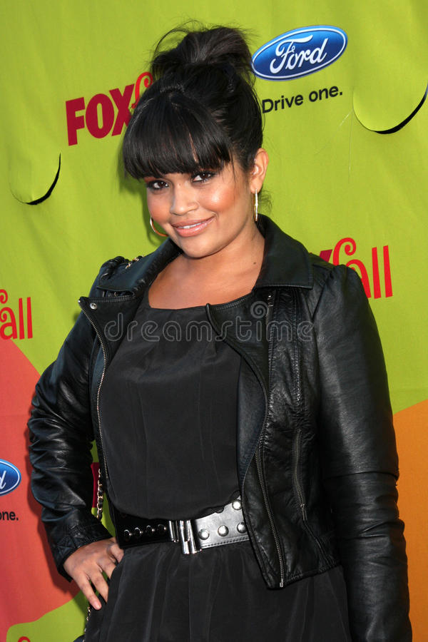 Karli Henriquez. Arriving at the FOX-Fall Eco-Casino Party at BOA Steakhouse in West Los Angeles, CA on September 14, 2009 royalty free stock photos