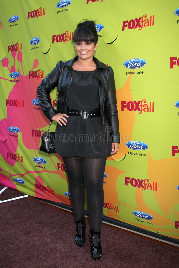 Karli Henriquez. Arriving at the FOX-Fall Eco-Casino Party at BOA Steakhouse in West Los Angeles, CA on September 14, 2009 stock image