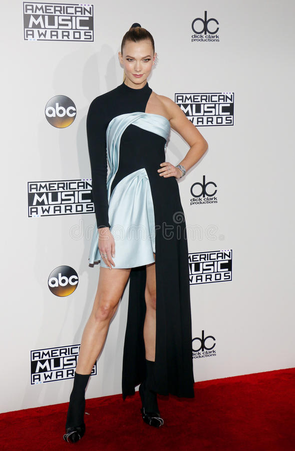 Karlie Kloss. At the 2016 American Music Awards held at the Microsoft Theater in Los Angeles, USA on November 20, 2016 royalty free stock photography