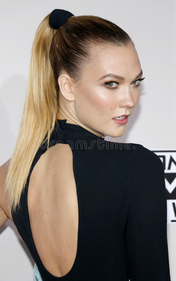 Karlie Kloss. At the 2016 American Music Awards held at the Microsoft Theater in Los Angeles, USA on November 20, 2016 royalty free stock image
