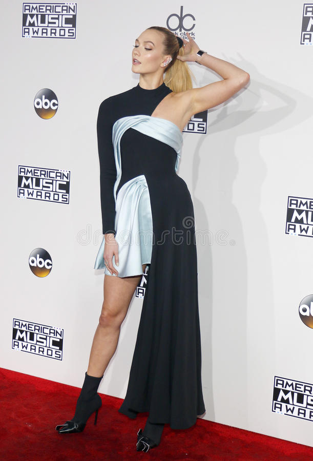 Karlie Kloss. At the 2016 American Music Awards held at the Microsoft Theater in Los Angeles, USA on November 20, 2016 royalty free stock photos