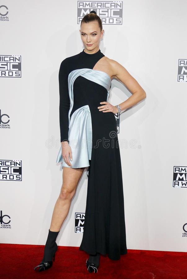 Karlie Kloss. At the 2016 American Music Awards held at the Microsoft Theater in Los Angeles, USA on November 20, 2016 stock photo