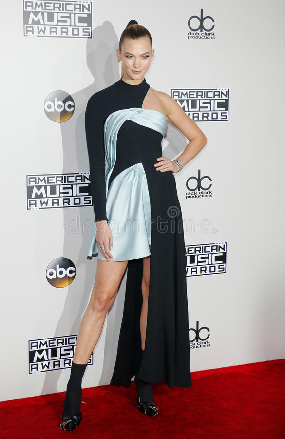 Karlie Kloss. At the 2016 American Music Awards held at the Microsoft Theater in Los Angeles, USA on November 20, 2016 royalty free stock images