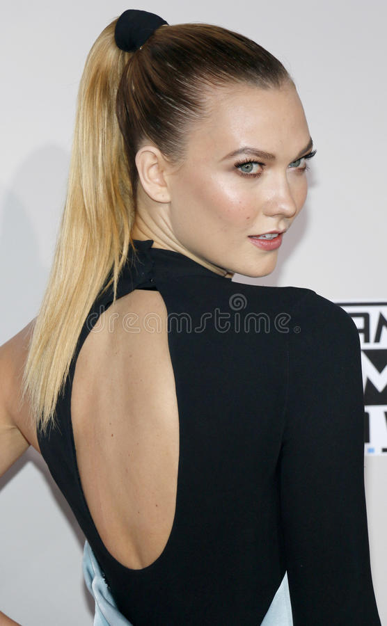 Karlie Kloss. At the 2016 American Music Awards held at the Microsoft Theater in Los Angeles, USA on November 20, 2016 stock photography