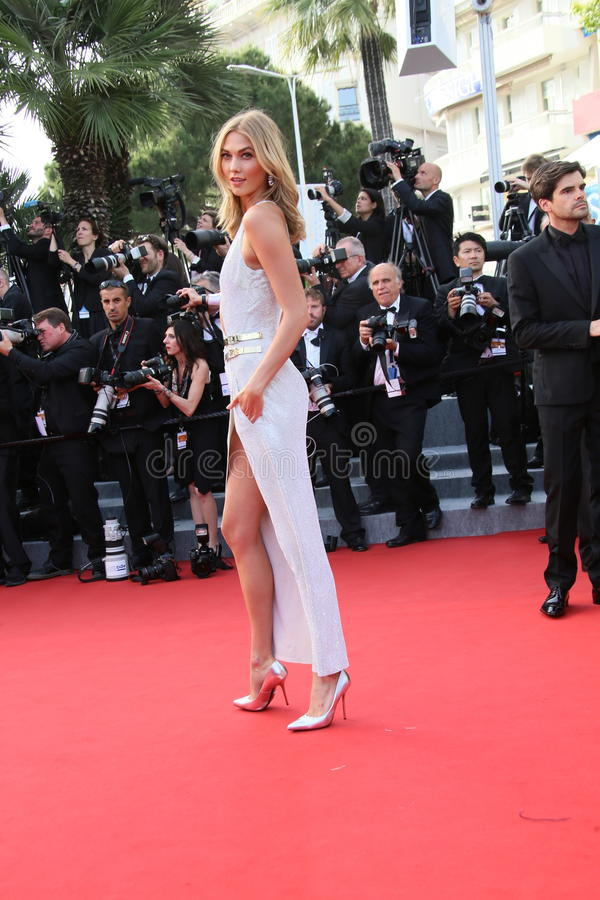 Karlie Kloss. Attends the opening ceremony and 'La Tete Haute' premiere during the 68th annual Cannes Film Festival on May 13, 2015 in Cannes, France royalty free stock photography