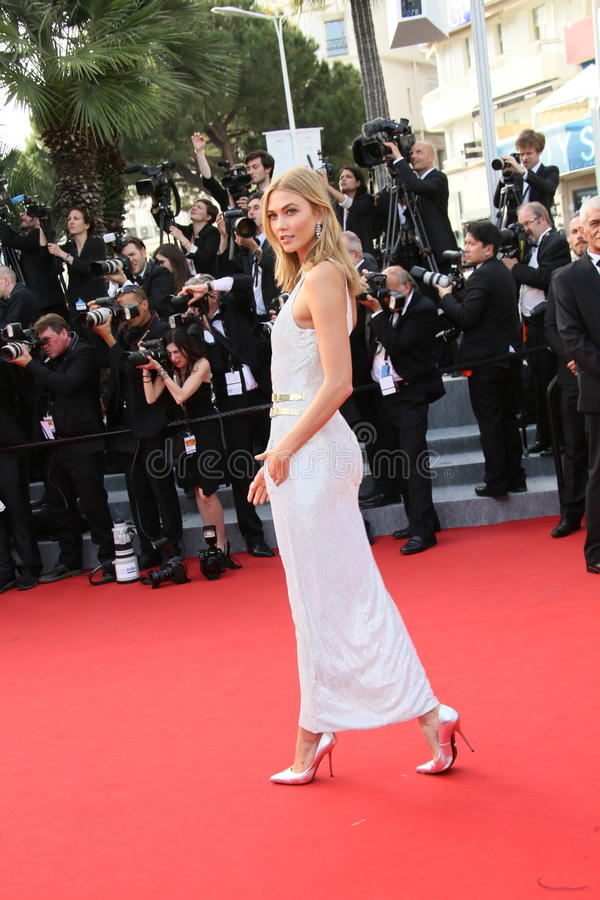 Karlie Kloss. Attends the opening ceremony and 'La Tete Haute' premiere during the 68th annual Cannes Film Festival on May 13, 2015 in Cannes, France stock photo