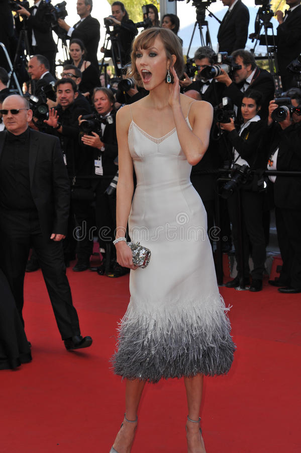 Karlie Kloss. CANNES, FRANCE - MAY 23, 2013: Karlie Kloss at the premiere of The Immigrant at the 66th Festival de Cannes stock photos