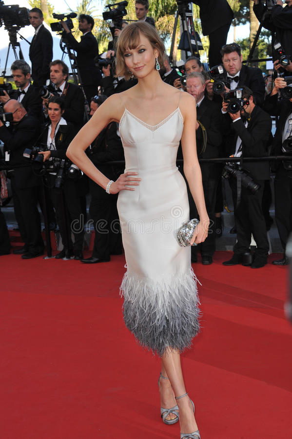 Karlie Kloss. CANNES, FRANCE - MAY 23, 2013: Karlie Kloss at the premiere of The Immigrant at the 66th Festival de Cannes stock photography