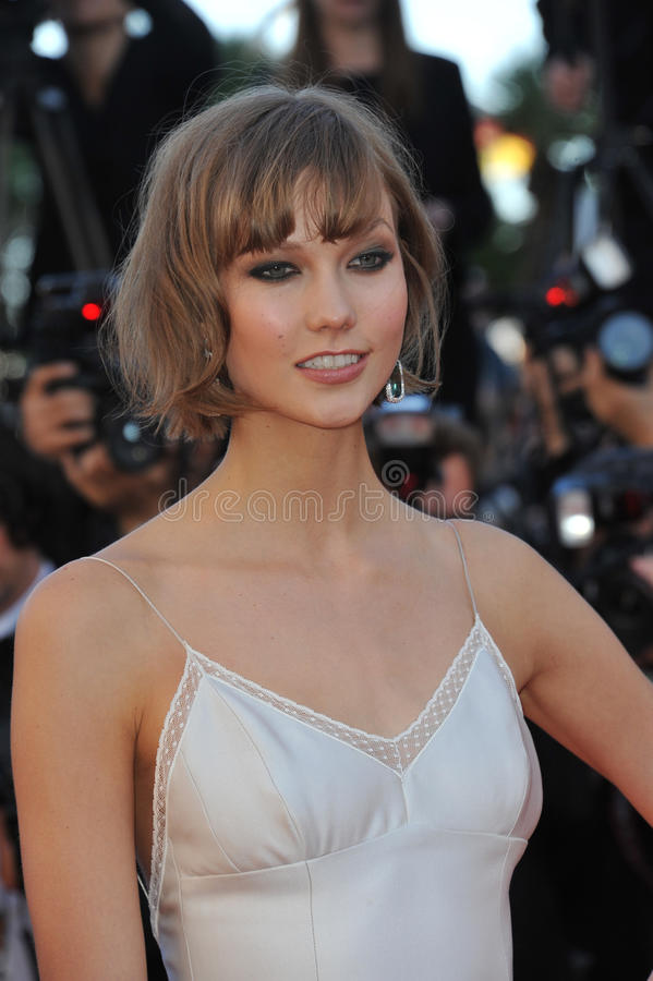 Karlie Kloss. CANNES, FRANCE - MAY 23, 2013: Karlie Kloss at the premiere of The Immigrant at the 66th Festival de Cannes royalty free stock photo