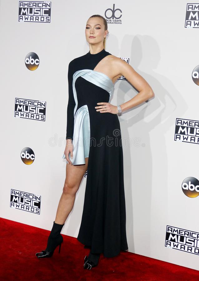 Karlie Kloss. At the 2016 American Music Awards held at the Microsoft Theater in Los Angeles, USA on November 20, 2016 stock photos